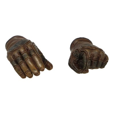 Female Gloved Hands (Brown)