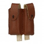 Leather Type 54 Double Magazines Pouch (Brown)