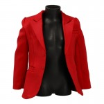Satin Suit Jacket (Red)