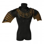Diecast Royal Armor Collar with Shoulder Pads (Black)