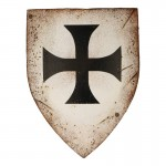 Worn Teutonic Knight Shield (White)