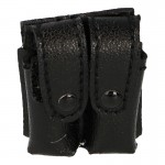 Leather Double Magazines Pouch (Black)