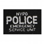 NYPD Emergency Squad Patch (Black)