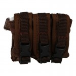 7,62mm Triple Magazines Drop Leg Pouch (Coyote)