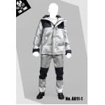 Technical Jacket Suit Set (Silver)