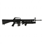 Worn M16 A1 Rifle with XM148 Grenade Launcher (Black)