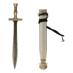 Diecast Greek Hoplite Xiphos Sword with Scabbard (Grey)