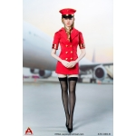 Female Sexy Flight Attendant Suit Set (Red)