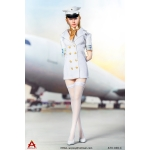 Female Sexy Flight Attendant Suit Set (White)