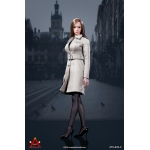 Female Trench Coat Suit Set (White)