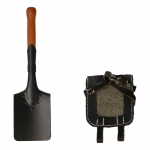 Diecast Shovel with Leather Cover (Black)