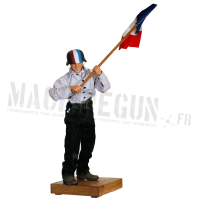 French resistant with flag