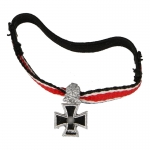 Diecast Iron Cross with Oak Leaf and Swords (Black)