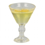 Lemon Martini Glass (Yellow)