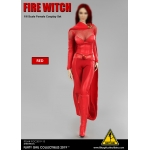 Female Fire Witch Set (Red)