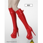 Female Heeled Boots (Red)