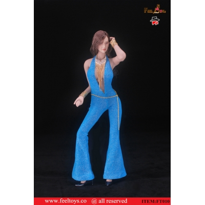 Female Desperado Vintage Disco Set (Blue)