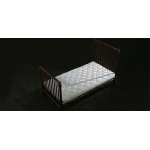 Diecast Single Bed with Mattress (Bronze)