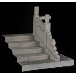 Ancient Steps with Carve Patterns Right Side Diorama (Grey)