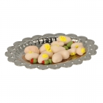 Mayonnaise Eggs and Olives with Diecast Plate (Beige)