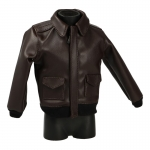 Leather Flight Jacket A2 (Brown)