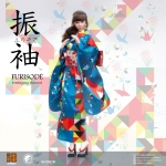 Furisode Female Clothing Set (Blue)