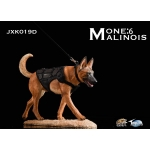 The Loyal Warrior - The Fighting Spirit Malinois Dog with Tactical Vest (Brown)