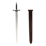 Diecast Sword with Leather Scabbard (Silver)