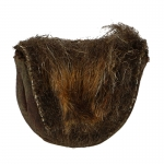 Leather Bag with Fur (Brown)