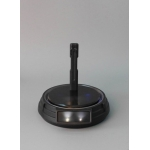 LED Light Up Power Illuminated Turntable Display Stand (Black)