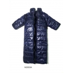 Stand Collar Long Down Coat (Blue)