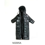 Hoodie Collar Long Down Coat (Black)
