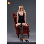 Female L Size Sexy Lingerie Set (Black)