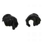 Female Gloved Hands (Black)