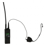 AN/PRC MBITR Radio with PTT and Earpiece (Black)