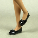 Female Mary Jane Flat Shoes Shoes (Black)