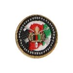 SF CJSOTF Afghanistan Round 1 Patch (Red)