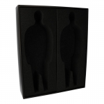 Foam Storage Box for Two Figures (Black)