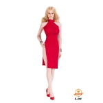 Female Evening Dress Set (Red)