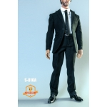 Men's Narrow Shoulder Suit Set (Black)