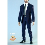 Men's Narrow Shoulder Suit Set (Blue)