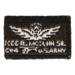 Todd Mc Dunn CW4 Patch (Brown)