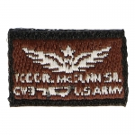 CW3 Todd Mc Dunn Name Patch (Brown)