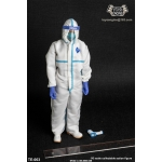 Male Disposable Protective Clothing Set (White)