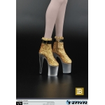 Female Heeled Shoes (Gold)