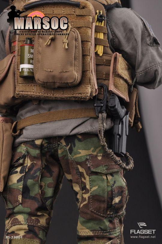 "FLAGSET FS 73001 U.S MARSOC Marine Corps Male Head Sculpt For 12/"" Action Figure"