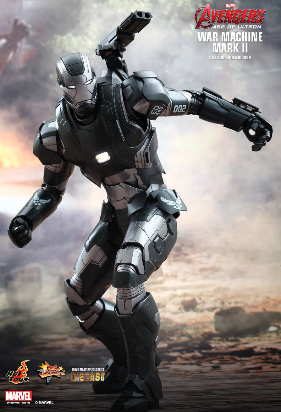 Avengers Age Of Ultron War Machine Mark Ii Diecast Hot Toys