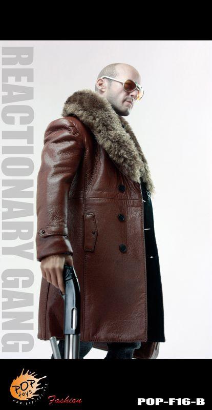 Black Leather handbag POPTOYS 1//6 F16 The Mafia style leather dress suit A