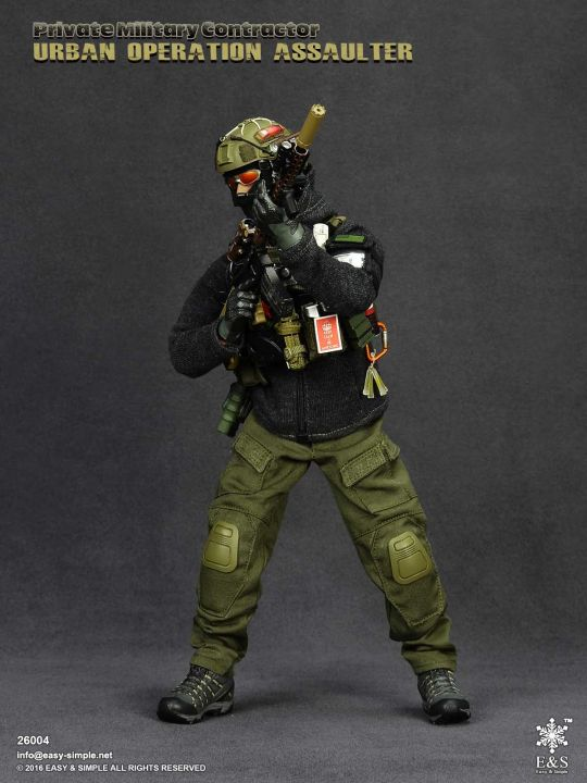 1//6 Scale PMC Urban Operation Assaulter OD Green Overlord Tactical Gloves