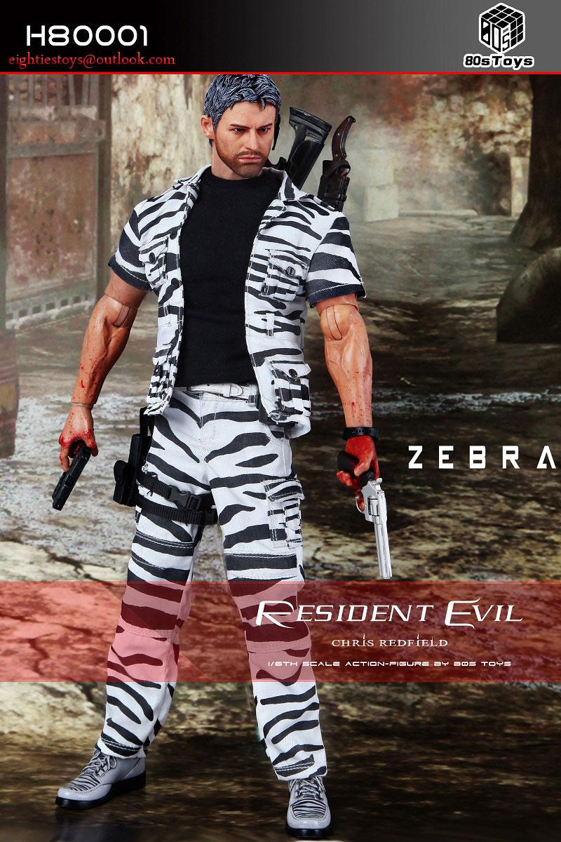 Resident Evil 5 Chris Redfield Zebra Suit Version 80s Toys